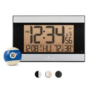 Horloge numérique Marathon, rectangle, gris