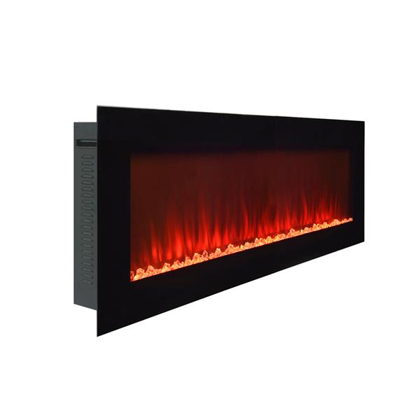 Paramount Premium Slim 20-in x 42-in Wall Mount Electric Fireplace