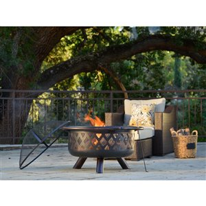 Starsong Oil Rubbed Bronze/Black Outdoor Firenza Fire Place