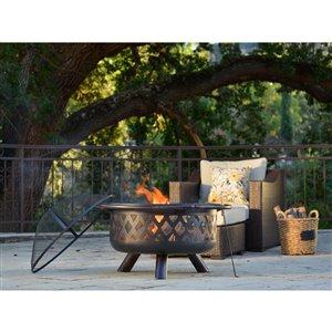 Firenza Outdoor Fireplace - Steel - Bronze/Black