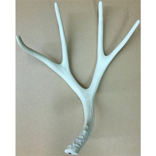 Canadian Antler Designs Reproduction Brown 8-Light Mule Deer Antler Chandelier