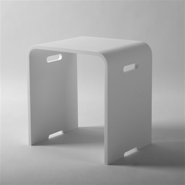Jade Bath Shower Stool With Handles Matte White