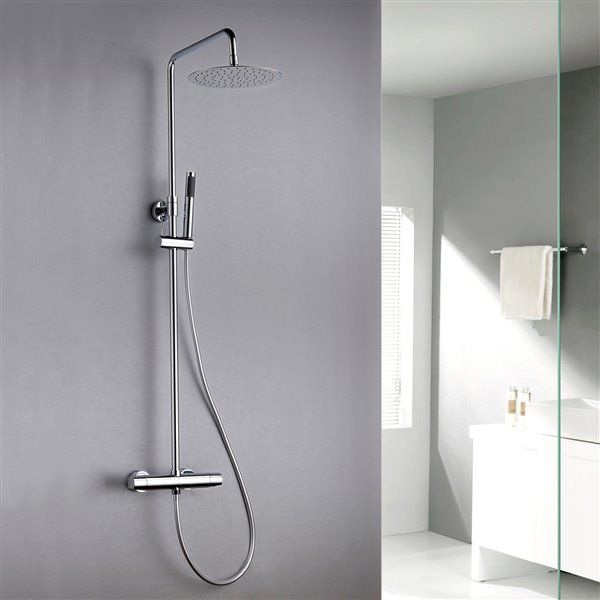 Jade Bath Pippa Polished Chrome Thermostatic Shower System