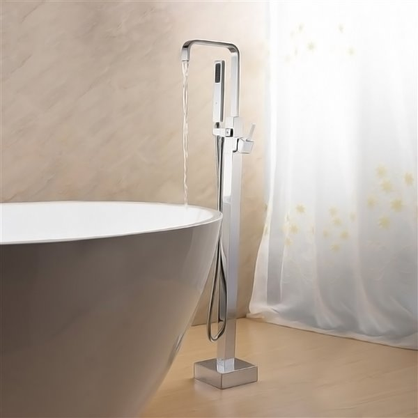 Jade Bath Hazel Chrome Floor Mounted Tub Filler 8407 00 10 Rona