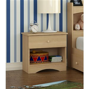 Nexera Alegria 1-Drawer Natural Maple Nightstand