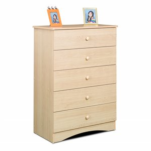 Nexera Alegria 5 Natural Maple 5 Drawer Chest