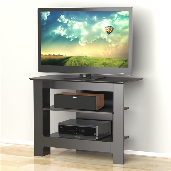 Nexera Pinnacle 31-in Black Tall Boy TV Stand