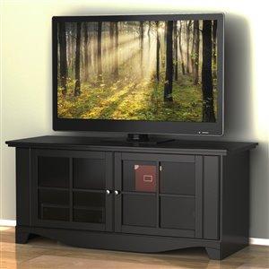 Pinnacle 56-in Black TV Stand