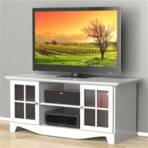 Pinnacle 56-in White TV Stand