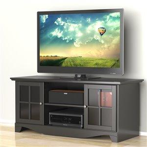 Nexera Pinnacle 56-in Black TV Stand