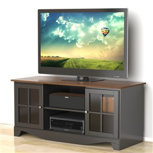 Nexera Pinnacle 54-in Cinnamon Cherry and Black TV Stand