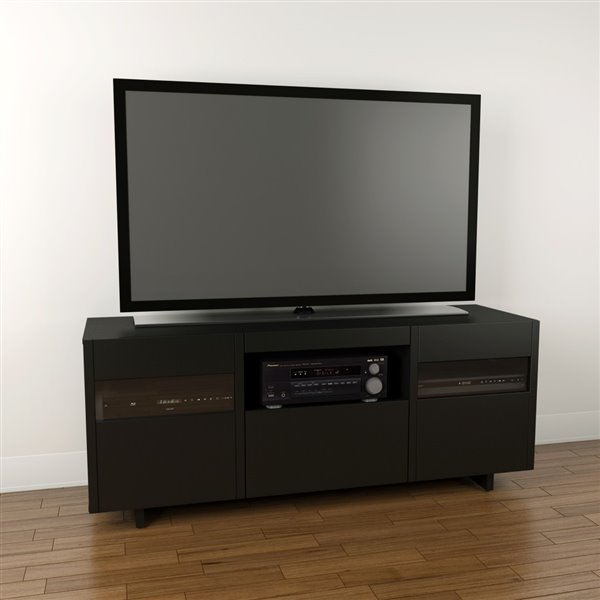 Nexera Vision 60-in Black TV Stand