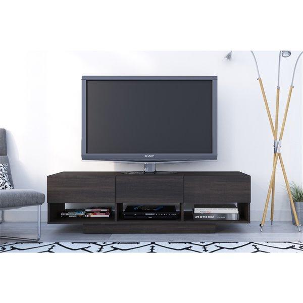 Nexera Rustik 60-in Ebony 3-Drawer TV Stand