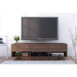 Nexera Rustik 60-in Walnut 3-Drawer TV Stand