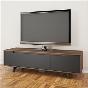 Nexera Alibi Wanut and Charcoal TV Stand
