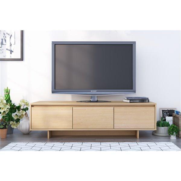 Nexera Rustik 60-in Natural Maple TV Stand