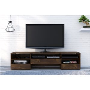 Nexera Rustik 72-in Truffle 1-Drawer TV Stand
