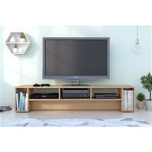 Nexera Rustik 72-in Natural Maple TV Stand