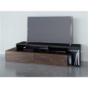 Nexera Paisley 72-in Truffle and Black TV Stand