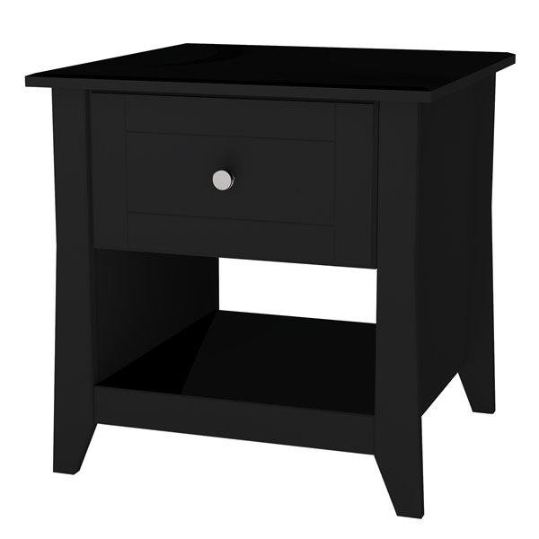 Nexera Tuxedo 24.25-in x 20-in x 20.75-in Black End Table