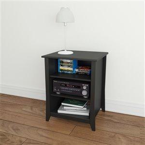 Cabinet de rangement audio Tuxedo, 2 étagères, noir