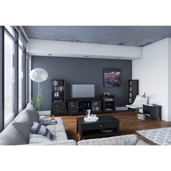 Nexera Tuxedo Black 1-Door Curio Cabinet