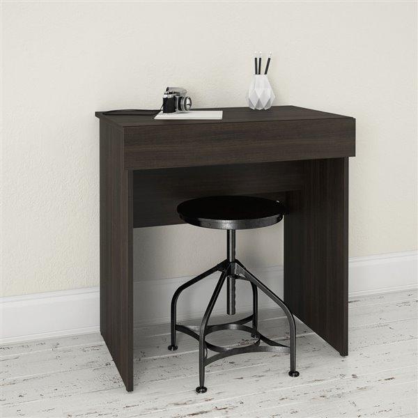Nexera Black 30.75-in x 29.75-in Ebony Vanity and Writing Desk