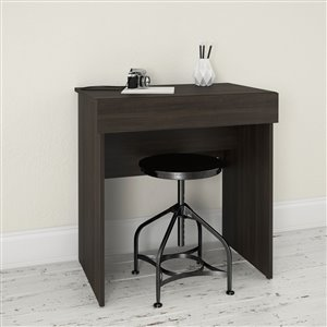 Nexera Black 30.75-in x 29.75-in Ebony Vanity and Writing Desk