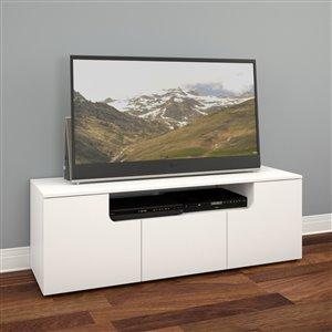 Nexera Arobas White TV Stand