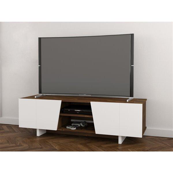 Nexera Oblik Truffle and White TV Stand