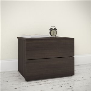 Nexera Nightstand  2-Drawer  Ebony