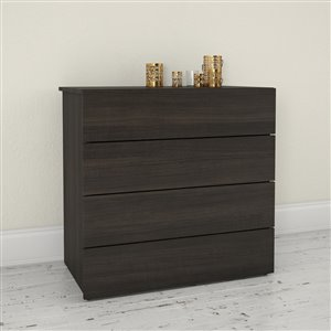 Nexera Ebony 4 Drawer Chest