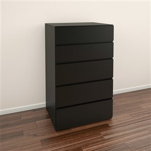 Nexera Black 5 Drawer Chest