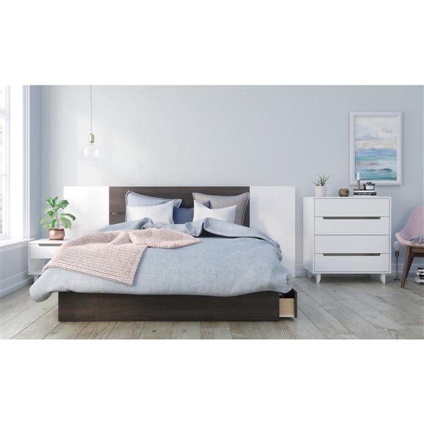 Nexera 40-In x 61.25-In Ebony Queen Size Plank Effect Headboard