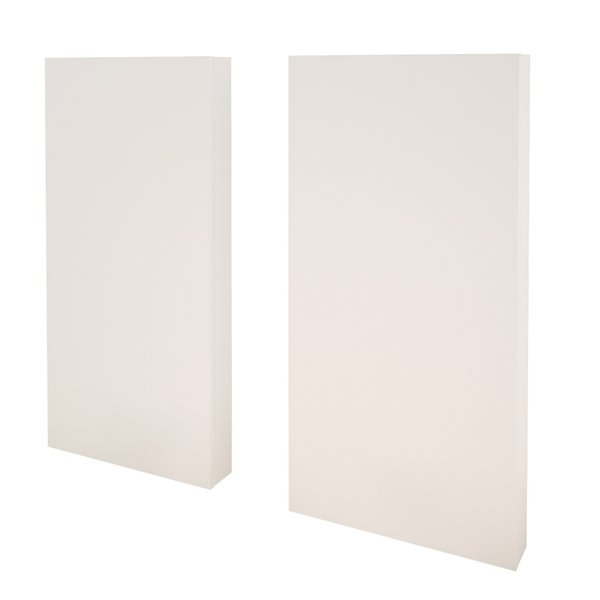 Nexera 40-In x 19.75-In White Extension Panels for Nexera Headboard (Set of 2)
