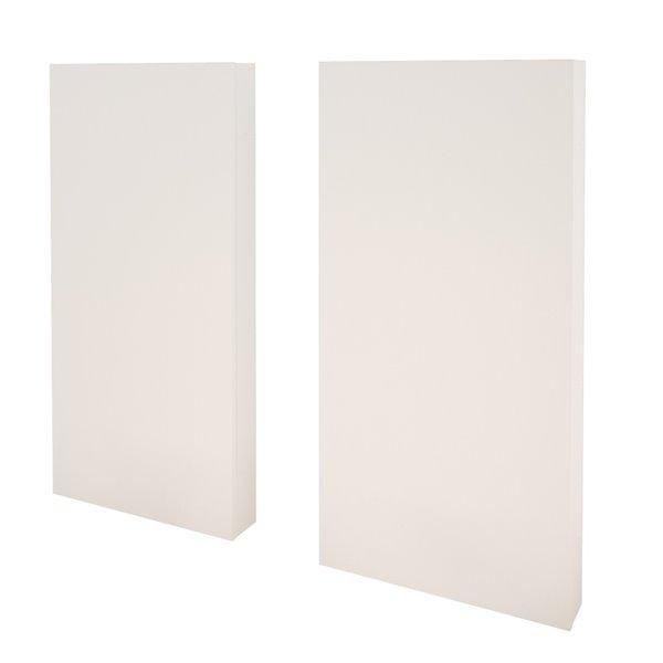 Extensions pour tête de lit Nexera, ensemble de 2, blanc