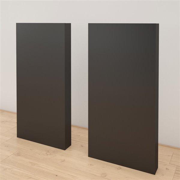 Nexera 40-In x 19.75-In Black Extension Panels for Nexera Headboard (Set of 2)