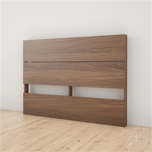 Nexera 40-In x 55.25-In Full Size Plank Effect Walnut Laminate Headboard