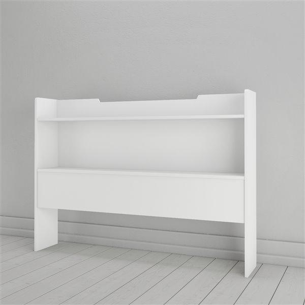 Nexera 40-In x 55.25-In Full Size White Storage Headboard