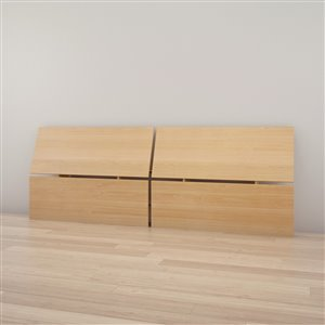 Nexera 37.50-In x  102-In Maple Queen Size Panoramic Headboard