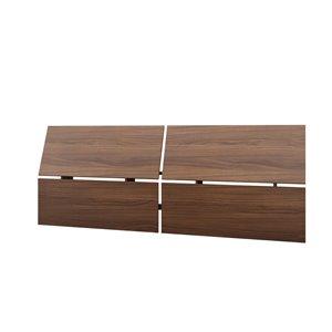 Nexera 37.50-In x 96.00-In Full Size Walnut Panoramic Headboard