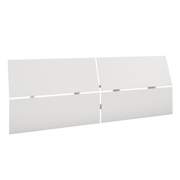 Tête de lit grand format panoramique Nexera, blanc