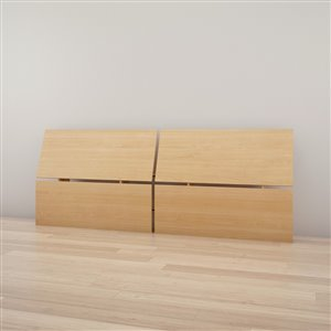 Nexera 37.50-in x 96-in Full Size Natural Maple Panoramic Headboard