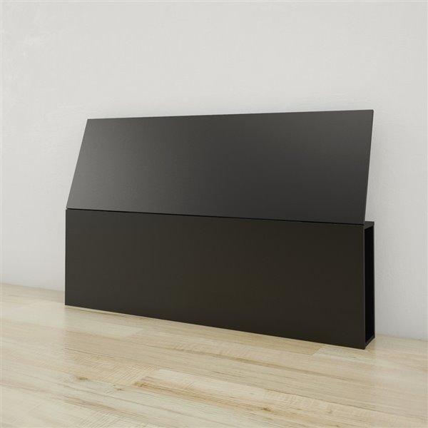 Nexera 38.50-In x 61-In Queen Size Black Headboard
