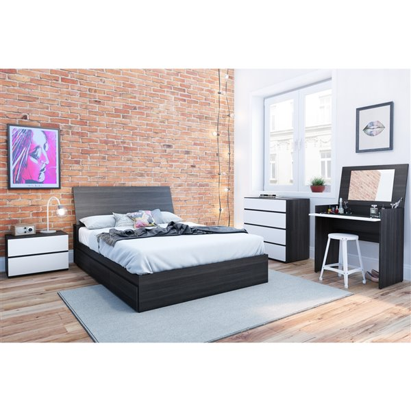 Nexera 38.50-in x 55.25-in Full Size Ebony Headboard