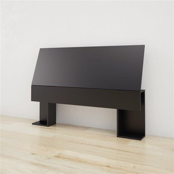 Nexera 38.50-In x 55.25-In Full Black Headboard