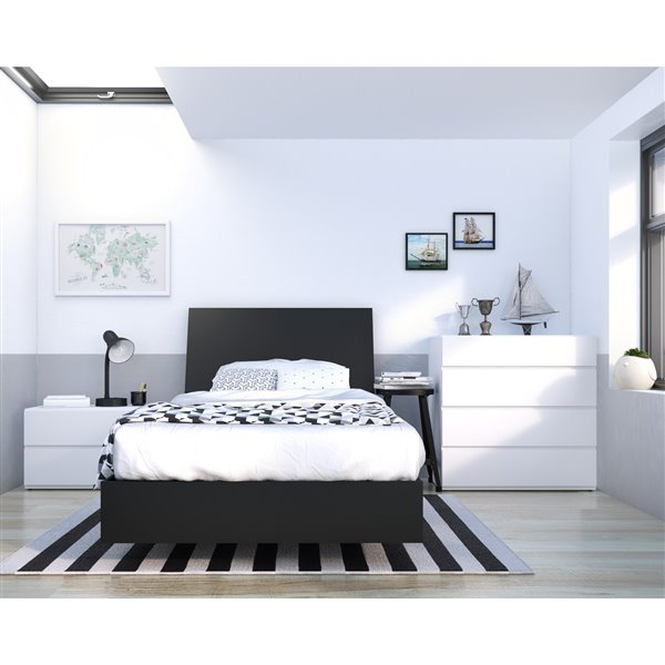 Tête de lit simple Nexera, noir