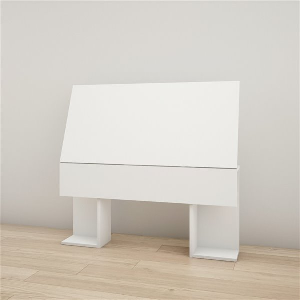 Tête de lit simple Nexera, blanc