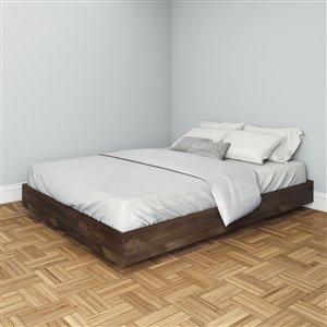 Nexera Truffle 61.25-in x 81.25-in Queen Size Platform Bed