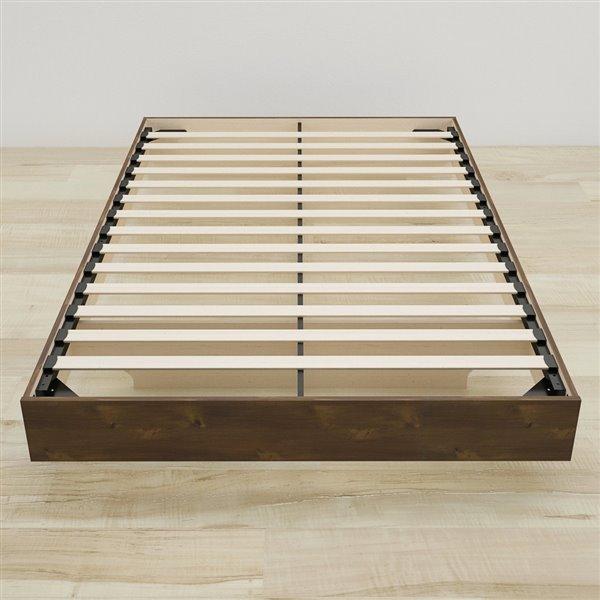 Nexera Truffle 76-in x 41.13-in Twin Size Platform Bed